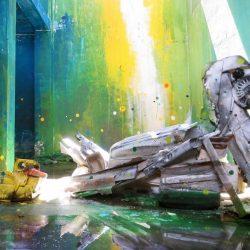Street Art con i rifiuti: le opere di Artur Bordalo